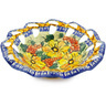 10-inch Stoneware Bowl with Holes - Polmedia Polish Pottery H1203F