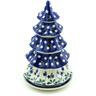 10-inch Stoneware Christmas Tree Candle Holder - Polmedia Polish Pottery H7759H