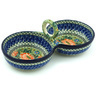 10-inch Stoneware Condiment Server - Polmedia Polish Pottery H1039H