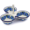 10-inch Stoneware Condiment Server - Polmedia Polish Pottery H1077J
