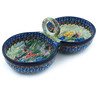 10-inch Stoneware Condiment Server - Polmedia Polish Pottery H3886H