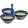 10-inch Stoneware Condiment Server - Polmedia Polish Pottery H8993J
