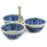 10-inch Stoneware Condiment Server - Polmedia Polish Pottery H9001J