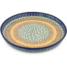 10-inch Stoneware Cookie Platter - Polmedia Polish Pottery H7355B