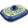 10-inch Stoneware Dish with Cover - Polmedia Polish Pottery H3759G