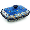 10-inch Stoneware Dish with Cover - Polmedia Polish Pottery H5136H