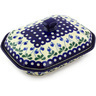 10-inch Stoneware Dish with Cover - Polmedia Polish Pottery H5731G