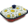 10-inch Stoneware Dish with Cover - Polmedia Polish Pottery H6927I