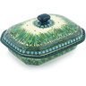 10-inch Stoneware Dish with Cover - Polmedia Polish Pottery H9420G