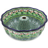 10-inch Stoneware Fluted Cake Pan - Polmedia Polish Pottery H3167L