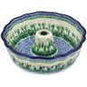 10-inch Stoneware Fluted Cake Pan - Polmedia Polish Pottery H3904L