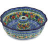 10-inch Stoneware Fluted Cake Pan - Polmedia Polish Pottery H4047L