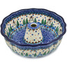 10-inch Stoneware Fluted Cake Pan - Polmedia Polish Pottery H9401K
