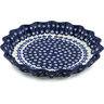 10-inch Stoneware Fluted Pie Dish - Polmedia Polish Pottery H0436A