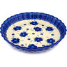 10-inch Stoneware Fluted Pie Dish - Polmedia Polish Pottery H0479C
