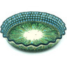 10-inch Stoneware Fluted Pie Dish - Polmedia Polish Pottery H1065H