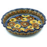 10-inch Stoneware Fluted Pie Dish - Polmedia Polish Pottery H1070H