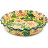 10-inch Stoneware Fluted Pie Dish - Polmedia Polish Pottery H1082H