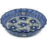10-inch Stoneware Fluted Pie Dish - Polmedia Polish Pottery H1086H