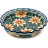 10-inch Stoneware Fluted Pie Dish - Polmedia Polish Pottery H1089H