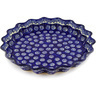 10-inch Stoneware Fluted Pie Dish - Polmedia Polish Pottery H3501D