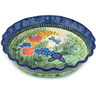 10-inch Stoneware Fluted Pie Dish - Polmedia Polish Pottery H4137C