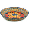 10-inch Stoneware Fluted Pie Dish - Polmedia Polish Pottery H6113D