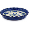 10-inch Stoneware Fluted Pie Dish - Polmedia Polish Pottery H6800A