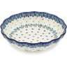 10-inch Stoneware Fluted Pie Dish - Polmedia Polish Pottery H6808A
