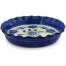 10-inch Stoneware Fluted Pie Dish - Polmedia Polish Pottery H6817A