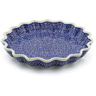 10-inch Stoneware Fluted Pie Dish - Polmedia Polish Pottery H7597A