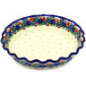 10-inch Stoneware Fluted Pie Dish - Polmedia Polish Pottery H7997D