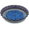 10-inch Stoneware Fluted Pie Dish - Polmedia Polish Pottery H8393F