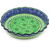 10-inch Stoneware Fluted Pie Dish - Polmedia Polish Pottery H8394F