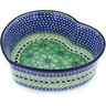 10-inch Stoneware Heart Shaped Bowl - Polmedia Polish Pottery H0543G