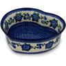 10-inch Stoneware Heart Shaped Bowl - Polmedia Polish Pottery H6087C