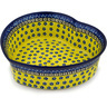 10-inch Stoneware Heart Shaped Bowl - Polmedia Polish Pottery H6091C