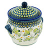 10-inch Stoneware Jar with Lid and Handles - Polmedia Polish Pottery H2530D