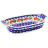 10-inch Stoneware Rectangular Baker with Handles - Polmedia Polish Pottery H0797K