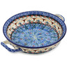 10-inch Stoneware Round Baker with Handles - Polmedia Polish Pottery H0970L