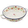 10-inch Stoneware Round Baker with Handles - Polmedia Polish Pottery H1291K