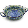 10-inch Stoneware Round Baker with Handles - Polmedia Polish Pottery H1888K