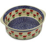 10-inch Stoneware Round Baker with Handles - Polmedia Polish Pottery H2267K