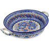 10-inch Stoneware Round Baker with Handles - Polmedia Polish Pottery H2869L