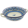 10-inch Stoneware Round Baker with Handles - Polmedia Polish Pottery H3850J