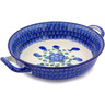 10-inch Stoneware Round Baker with Handles - Polmedia Polish Pottery H5729A