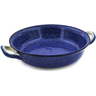 10-inch Stoneware Round Baker with Handles - Polmedia Polish Pottery H6702J