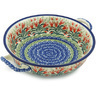 10-inch Stoneware Round Baker with Handles - Polmedia Polish Pottery H7514G