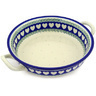 10-inch Stoneware Round Baker with Handles - Polmedia Polish Pottery H7641E