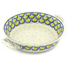 10-inch Stoneware Round Baker with Handles - Polmedia Polish Pottery H8458G